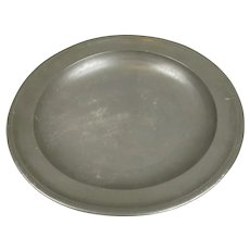 Pewter Dish by James Yates Birmingham Antique Early 19th Century