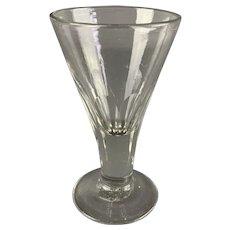 Cut Stem Firing Glass for Toasting Antique Georgian c1800