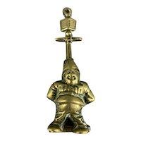 Brass Door Knocker Of A Policeman Lay On A Street Lamp Vintage C1930