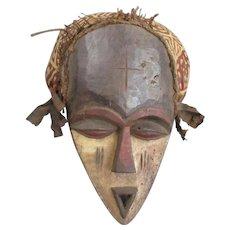 Gabon African Tribal Mask Vintage c1950