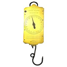 Brass Salter's Class II Spring Balance Scales 40 lbs Vintage c1950