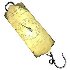 Brass Salter's Improved Circular Spring Balance Scales 30 LBS Vintage c1950
