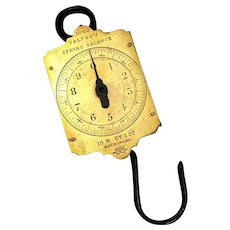 Brass Salter's  No 60 Spring Balance Scales 10 LBS Vintage c1950