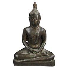 Bronze Buddha Indian 19th Century
