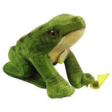 Velveteen Steiff Froggy Toy Vintage c1970