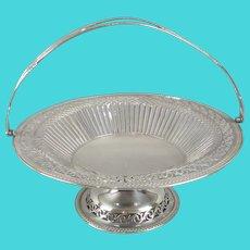 Silver Plated Pierced Fruit Bowl Antique c1920