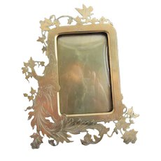 English Victorian Brass Decorative Photo Frame Antique c1880