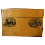 Scottish Mauchline Ware Playing Card Box Antique 1890