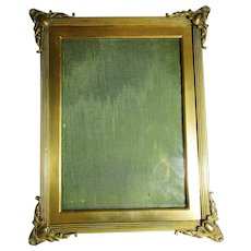 English Brass Easel Photo Frame Antique Victorian London 1890