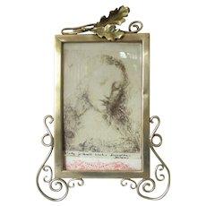 Brass Art Nouveau Photo Picture Frame Antique Victorian c.1890.