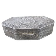 Sterling Silver Vintage Pill or Trinket Box