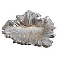 English Sterling Silver Shell Pin Tray Dish Antique 1897 Sheffield