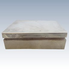 English Sterling Silver Box Chester 1926