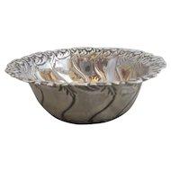 English Sterling Silver Art Nouveau Dish Sheffield Antique c1897