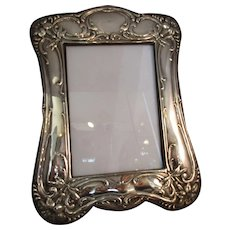 Sterling Silver Art Nouveau Photo Frame Antique Edwardian Hallmarked Chester 1909.