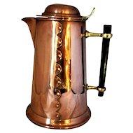 Antique Arts & Crafts Copper Jug c1900.