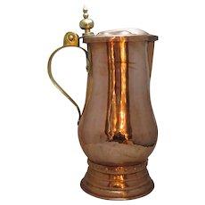 Large Copper & Brass Arts & Crafts Jug Antique Victorian c1890.