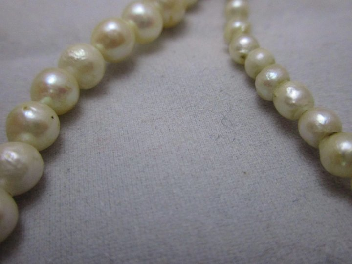 396f98ed3e9605 Cultured Pearl Necklace With Silver Marcasite Clasp Vintage Art Deco c1930.