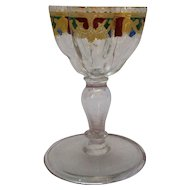 English Wine Glass Victorian Antique 19th C.