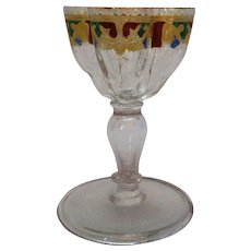 English Wine Glass Victorian Antique 19th C.