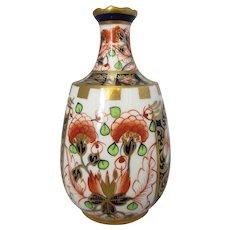 Miniature Crown Derby Imari Pattern Vase Antique.