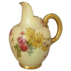 Small Royal Worcester Blush Painted Jug Antique c1900.