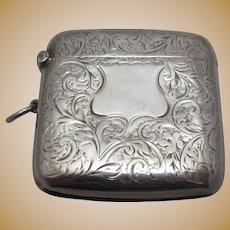 Sterling Silver Vesta Case Antique Edwardian 1909 English.