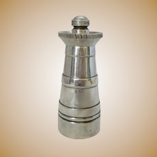 Small Vintage Silver Plated Churn Pepper Mill c1930s.