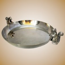 Vintage Silver Plated Squirrel Nut Dish.