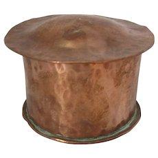 Small Arts & Crafts Hand Beaten Copper Pot Antique c1900.