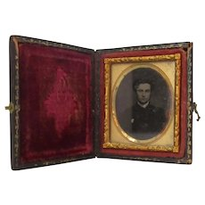 Miniature Antique Cased Daguerrotype of an English Gentleman c1860.