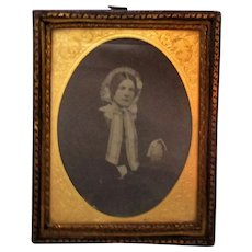 Antique Framed Ambrotype of an English Lady c1860.