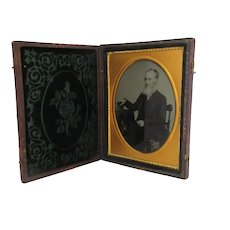 Cased Daguerreotype of an Elderly English Gentleman c1860.