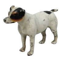 English Cold Painted Dog Vintage 20th Century.