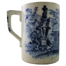 English Porcelain Blue & White Mug Antique c.1900.