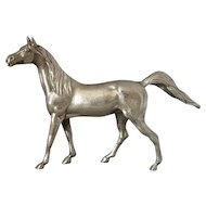 English Silver Plate Horse Vintage 20th Century.
