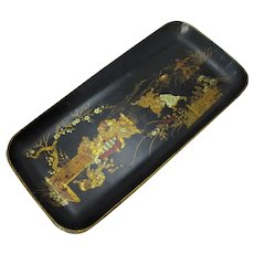 Japanese Papier Mache Tray Antique c.1900.