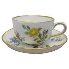 German Porcelain Miniature Cup & Saucer Vintage Dresden 20th Century.