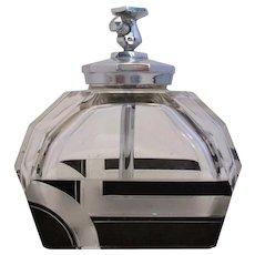 Czech Glass Scent Bottle Art Deco Vintage 20th Century.