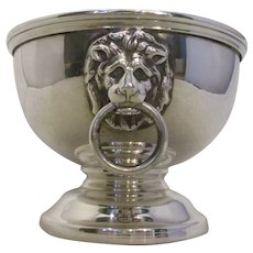 Sterling Silver Small Urn With Lion Head Handles Vintage Birmingham 1961.