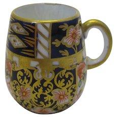 Miniature Crown Derby Mug Vintage.