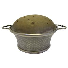 Sterling Silver Pin Cushion Basket Birmingham c1911.