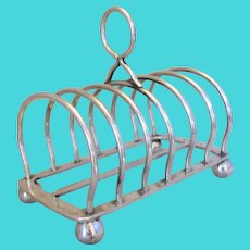 Silver Plated English Toast Rack by Elkington & Co Antique Victorian.