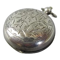 Sterling Silver Sovereign Pocket Case Birmingham Antique c1901
