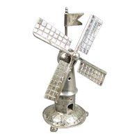 800 grade Silver Novelty Miniature Windmill Vintage