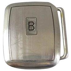 Sterling Silver Art Deco Belt Buckle Vintage c1950