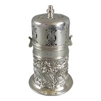 Fine Sterling Silver Sugar Sifter Caster Muffineer Mappin Webb Antique c1901