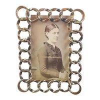 Brass Ring Photo Frame Antique Victorian c1880