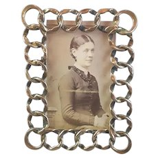 Brass Ring Photo Frame Antique Victorian c1880