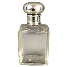 Sterling Silver Top Scent Bottle Charles Henry Dumenil George V Vintage 1920
